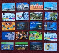 20 Collectable Used Phone Cards from Uk & Abroad