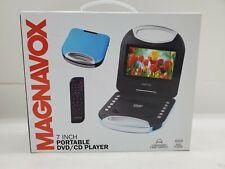 Magnavox 7 Inch Portable DVD/CD Player  MTFT750-BK Black Convenient Carry Handle