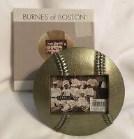 """Burnes of Boston Photo Frame ~ Baseball Frame-Antiqued Sport Bronze 5 x 3 1/2"""""""