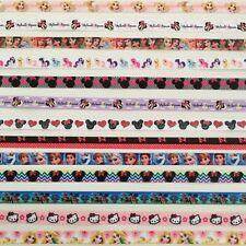 Disney character grosgrain ribbon 10mm 3/8 inch craft hair bows cake pink minnie