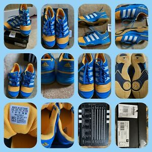 ADIDAS Mens Court Stabil 11 Indoor Court Shoes Blue/Yellow M18443  UK 10.5