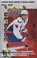 2009-10 09/10 Upper Deck UD Series 2 Base Cards #251 - 450 Stars, Goalies U Pick