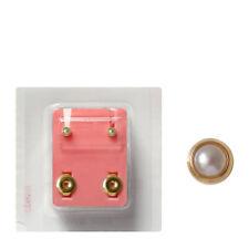 Erstohrstecker vergoldet sterile Ohrstecker Zarge Ohrringe mit perle 3mm