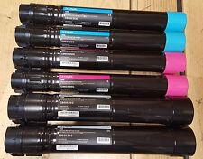 6 USED Genuine Lexmark C950X2KG C950X2MG Toner Cartridges 50% Toner C950 KCM