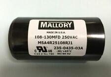 Mallory MSA4R25108RJ1 240V Motor Start Capacitor