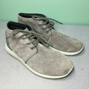Crocs Triple Comfort Kinsale 203391 Grey Cobblestone Suede Men Chukka Boots Sz 8