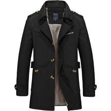 Men's Jacket Cotton Smart fashion Coat for Men Mid Length Windbreaker Winter