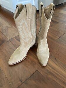 Polo Ralph Lauren Texan Suede Cowboy Boots 37