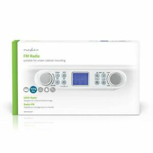 FM Radio Under-Cabinet Radio 30 Preset Stations Display +Automatic Dimmer White