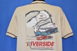 vintage 80s CAMEL LOGO RIVERSIDE INTERNATIONAL RACEWAY CALIFORNIA CAR t-shirt XL