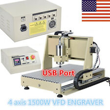 4 axis 6040 1.5KW USB port! MACH3 CNC ROUTER ENGRAVER ENGRAVING DRILL MACHINE US