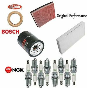 Tune UP KIT Cabin Air Oil Filters Plugs for Nissan Titan V8; 5.6L 2007-2008