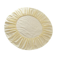 Cotton Fitted Bed Sheet Round Bed Home Textile Bedding Mattress Cover Beige