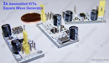 3x ASSEMBLED White PCB NE555 LM555 SMD Adjustable Square Wave Generator - USA