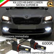 KIT FULL LED SKODA SUPERB III LAMPADE H8 FENDINEBBIA CANBUS 6400 LUMEN 6000K