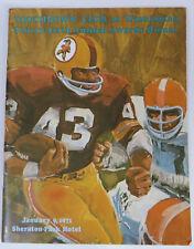Washington Redskins Touchdown Club 1971 Awards Dinner Program Magazine