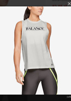 Women's Under Armour Balance Graphic Muscle Tank, White, Size XS
