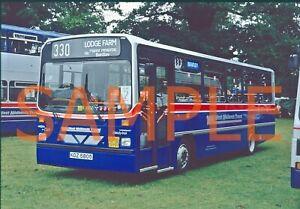 35mm slide West Midlands Travel Dennis Dart / Wright Handybus KDZ 5805 - 805