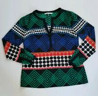 Womens Trina Turk Shirt Size Small geometric