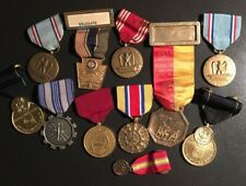 Military Medals Group and Ribbons 11 Medals 6 Ribbons Different Periods
