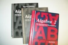 3 PC. SAXON ALGEBRA 2  STUDENT TEXT & ANSWER KE- TESTS/- 3RD EDITION COMPLETE