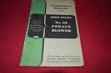 John Deere 50 Forage Blower Operator's Manual Gdsd6