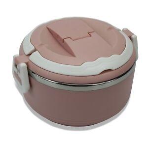 Colourful round Bento Box Lunch Box Single layer; Choice of Colours. Moshi Moshi