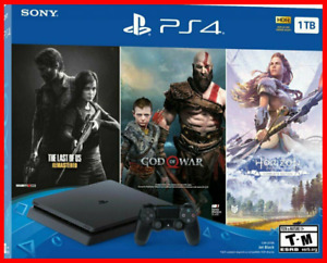 New Sony PlayStation 4 PS4 Slim 1TB Console 3 Game Bundle FREE Fast DELIVERY