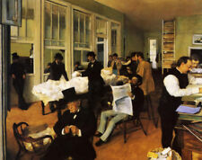 A Cotton Office In New Orleans by Edgar Degas, Oil Painting Canvas Reproduction