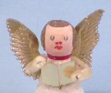Vintage Angel Christmas Decoration Figurine Gold White Glitter W Germany #108