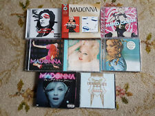 LOT DE COMPACT DISC DE LA SUPERSTAR MADONNA  8 COFFRETS DE CD