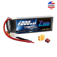 6000mAh 11.1V 60C 3S Deans Plug LiPo Battery XT60 for RC Car Truck Helicopter