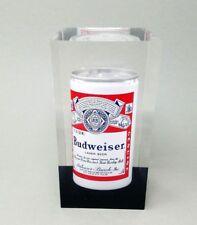 Lucite Acrylic Anheuser Busch 1970s Budweiser Beer Can Push Button Top Award