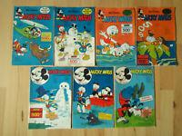 Micky Maus - Konvolut 7 Comichefte von 1968-70 mit Sammelbilder Fußballalbum