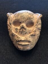 Beautiful Pre-Columbian Aztec / Xipe / Totec Hand Carved Stone Pendant Statue