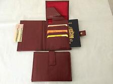 Travel Wallet Passport Holder - Burgundy Red (AE-13)