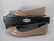 Dr Scholls True Comfort Really Nude Pointed Toe Faux Patent Leather Flats Sz 8.5
