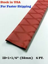 "4 Ft. Red 1.25"" 32mm Id 2:1 Ratio Heat Shrink Sleeve Wrap Tubing Rod Handle"