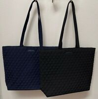 Vera Bradley Essential Tote Bag in Classic Navy or Black - NWT - MSRP $79