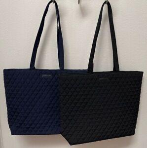 Vera Bradley Essential Tote Bag in Classic Navy or Black - NWT - MSRP $79
