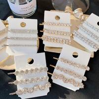 Fashion Womens Crystal Hairpin Hair Clip Bobby Pin Barrette Hair Accessories Set