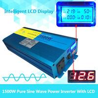 3000W peak pure sine wave power inverter DC 12V to AC 240V caravan converter LCD