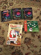 KIDS! 3 Scratch It Merry Christmas Books, 1 Activity Pad, 1 Snowman Necklace Kit