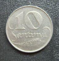 #BC.6-18. LATVIA Lettland 10 SANTIMI 1922