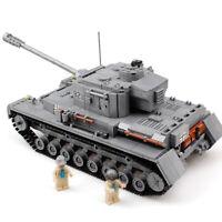 1193pcs WW2 PanzerIV Tank Modell mit Armee Soldat Figuren Bausteine Spielzeug