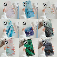 For iPhone 12 11 Pro Max XS XR 7 8 Plus Marble Soft Silicone Phone Case Cover