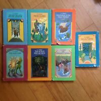 COMPLETE SET C.S. Lewis THE CHRONICLES OF NARNIA SERIES HC/DJ Macmillan Vintage