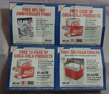 Vintage 1992 Mobil Oil Gas Station Coca Cola Coupon Diet Coke Coupons