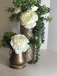 """Lot Of 20 Rose Gold  4""""x 3"""" Candle Vase Flower wedding decor table center piece"""