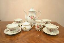 Vintage MOSS ROSE Pattern 11 Piece Porcelain Coffee Tea Set Made in Japan